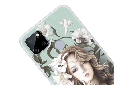 Силиконов калъф за Realme C12, Красиво момиче