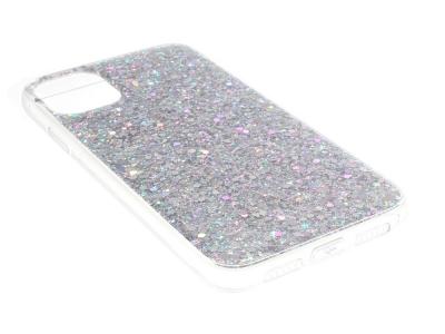 Силиконов калъф Flash Powder за iPhone 11, Сребрист