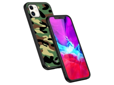 Силиконов калъф Camouflage за iPhone 12 Pro/12, Зелен камуфлаж
