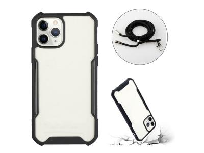 Удароустойчив калъф Shockproof с връзка за iPhone 12 Pro / iPhone 12, Черен