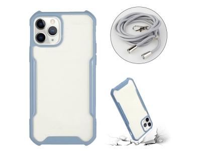 Удароустойчив калъф Shockproof с връзка за iPhone 12 Pro / iPhone 12, Светло син