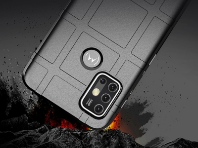 Удароустойчив Калъф Grid за Motorola Moto G30 / Moto G10, Черен