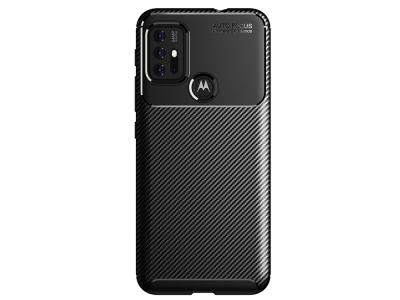 Силиконов Калъф Carbon Fibre за Motorola Moto G30, Черен
