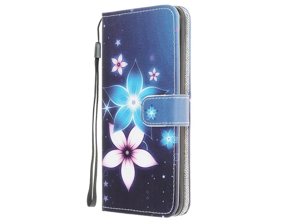 Калъф Тефтер Leather за Motorola Moto G30/ G10, Цветя