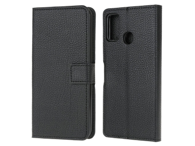 Калъф Тефтер Litchi за Motorola Moto G10 / G30, Черен