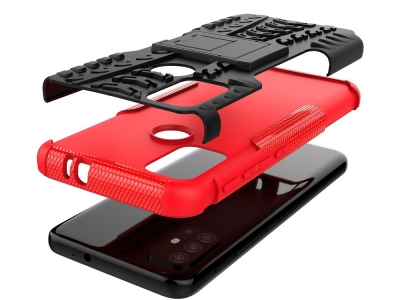 Удароустойчив Калъф Hybrid за Motorola Moto G30, Червен