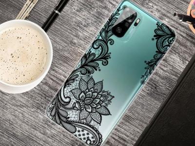 Силиконов калъф за Xiaomi Redmi Note 10 4G/10S, Дантелени цветя