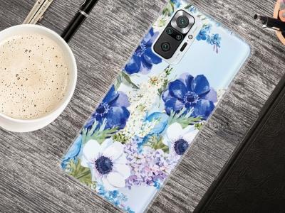 Силиконов калъф за Xiaomi Redmi Note 10 Pro Max/Redmi Note 10 Pro, Сини цветя