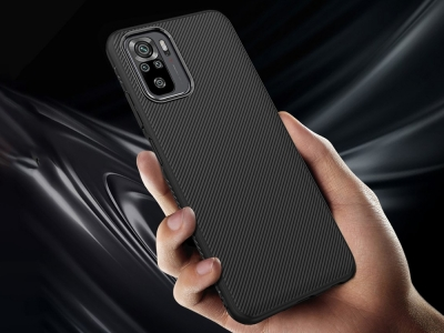 Силиконов Калъф Twill за Xiaomi Redmi Note 10 4G/Note 10S, Черен