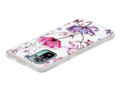 Силиконов калъф Marble за Xiaomi Redmi Note 10 4G/Note 10S, Цветя