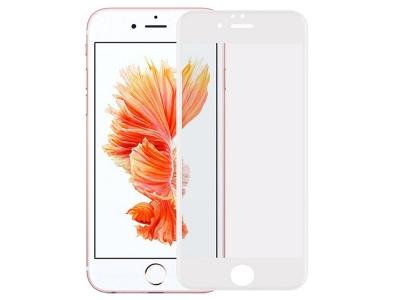 Стъклен Протектор 9D Full за iPhone 6 / 6s, Бял
