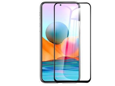 Стъклен Протектор 5D Full Glue за Xiaomi Redmi Note 10 / 10s, Черен