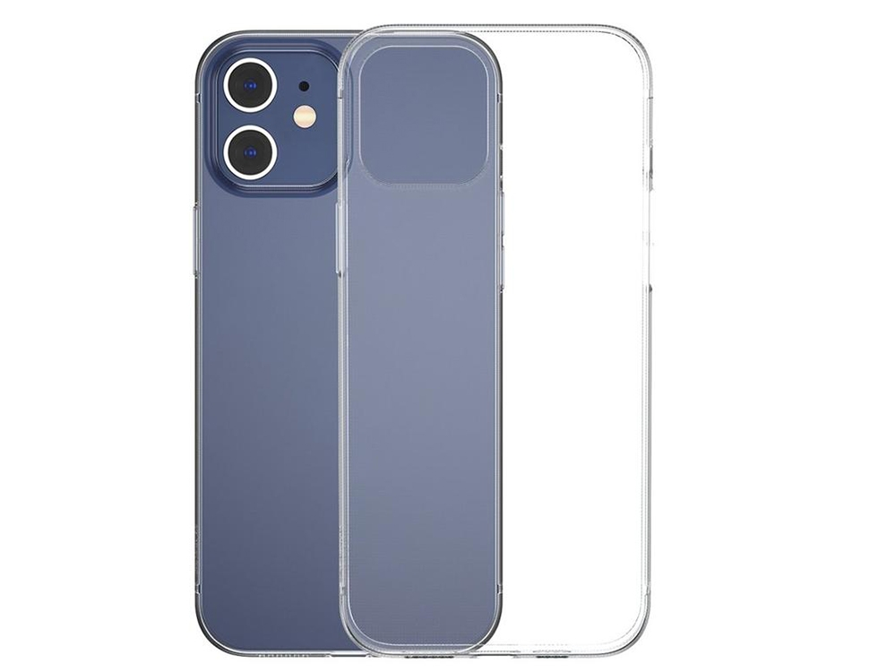 Силиконов калъф 2mm за iPhone 12 / 12 Pro, Прозрачен