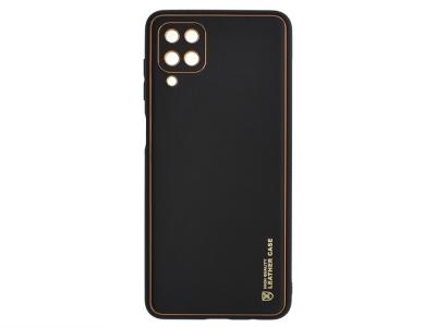 Удароустойчив калъф LEATHER за Samsung Galaxy A12, Черен