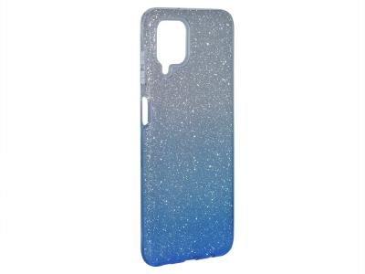 Силиконов Гръб SHINING за Samsung Galaxy A12, Сребрист/ Син