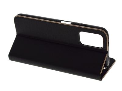 Калъф Тефтер LUNA за Xiaomi Redmi Note 10 / 10S, Черен