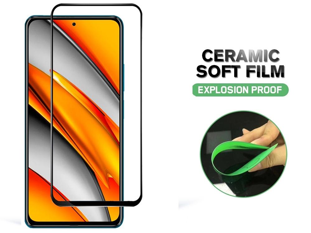Стъклен Протектор 5D Full Glue Ceramic за Xiaomi Poco F3 / Redmi K40 / Mi 11i 5G, Черен