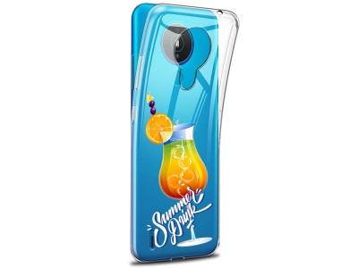Силиконов калъф за Nokia 1.4 , Лятно питие