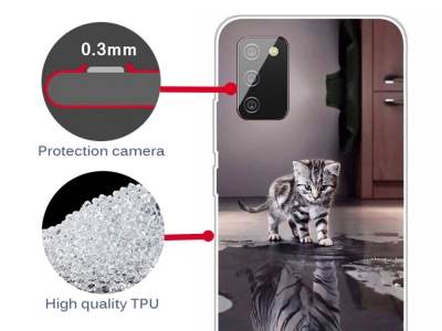 Силиконов калъф за Samsung Galaxy A02s, Коте и Тигър