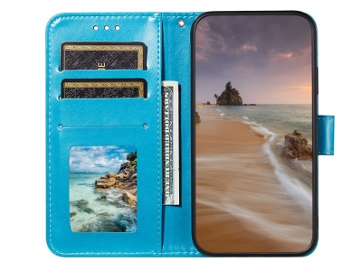 Калъф тефтер Wallet Leather за  Xiaomi Mi 11 Lite 5G/4G, Син