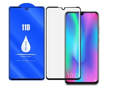 Стъклен Протектор 11D Full Glue за Huawei P30 Lite, Черен