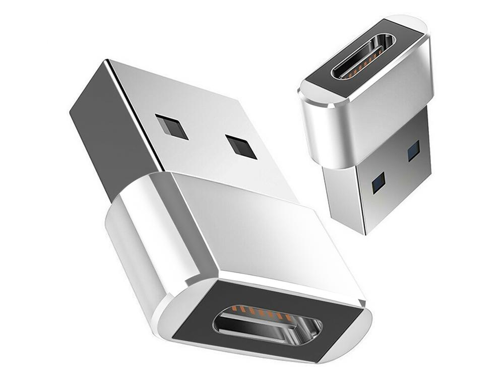 Преходник USB A to Type C - F