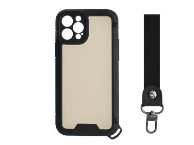 Удароустойчив калъф Shield Carbon за iPhone 12 Pro, Черен