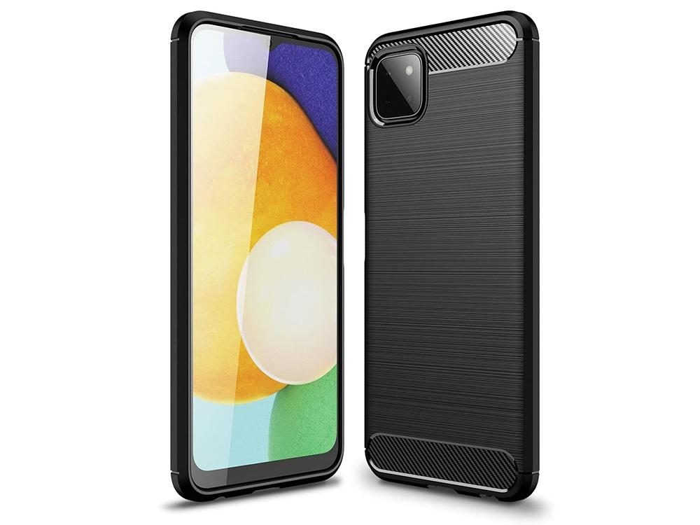 Силиконов Калъф Carbon за Samsung Galaxy A22 5G, Черен