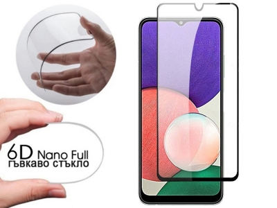 Удароустойчив Протектор 6D Nano Full за Samsung Galaxy A22 5G, Черен