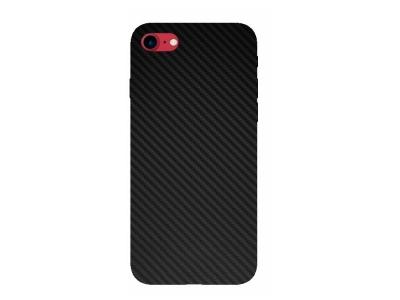 Фолио Хидрогел Carbon за iPhone 7/8/SE 2, Черен
