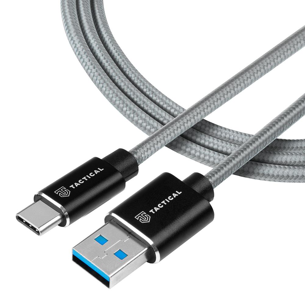 USB Кабел Tactical Fast Rope Kevlar USB-A/USB-C 2m Grey