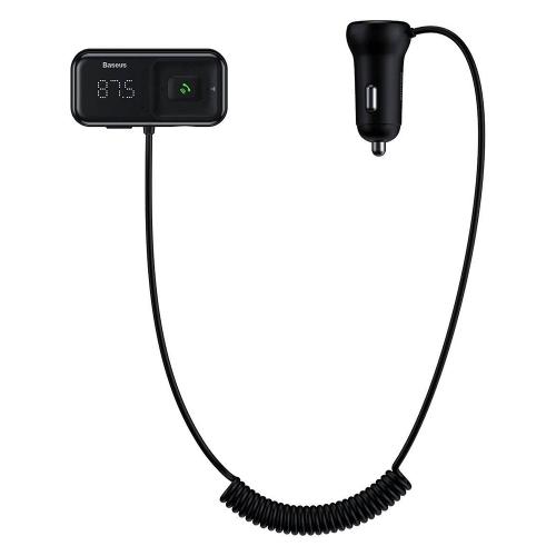BASEUS Трансмитер и зарядно за автомобил Bluetooth 5.0 MP3 - 2xUSB - 3.1A charger (CCTM-E01), Черен