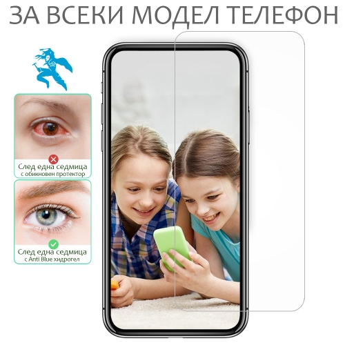 Хидрогел протектори SAMURAI щадящ очите Anti Blue за всеки телефон