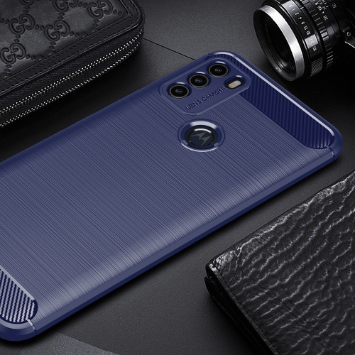 Силиконов Калъф Carbon за Motorola Moto G50, Син