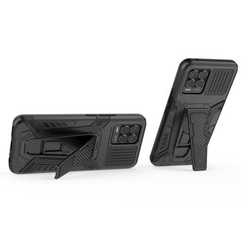 Удароустойчив калъф Kickstand за Realme 8, Черен