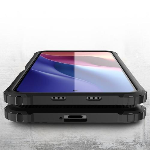 Удароустойчив калъф Armor за Xiaomi Redmi K40/Redmi K40 Pro/Redmi K40 Pro+/Mi 11i 5G/Poco F3, Черен