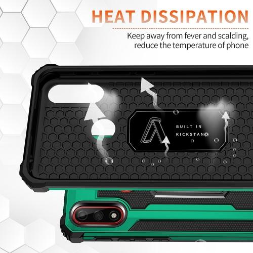 Удароустойчив калъф с поставка Hybrid за Motorola Moto E7 Power/Moto E7i Power, Зелен