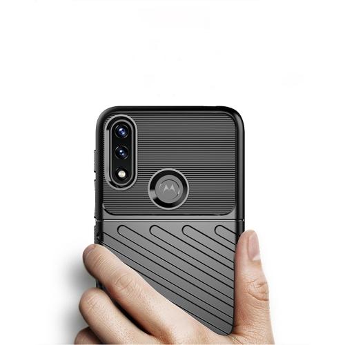Силиконов Гръб Thunder за Motorola Moto E7 Power/Moto E7i Power, Черен