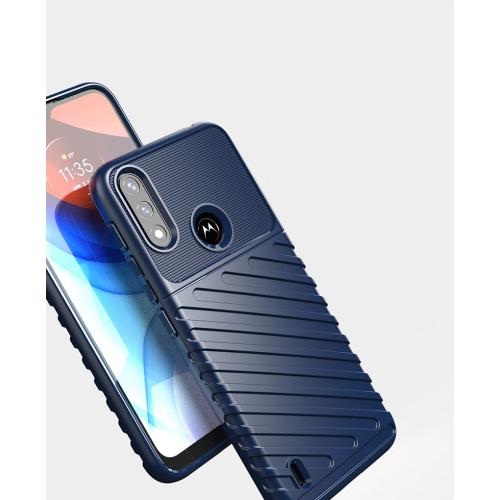 Силиконов Гръб Thunder за Motorola Moto E7 Power/Moto E7i Power, Син