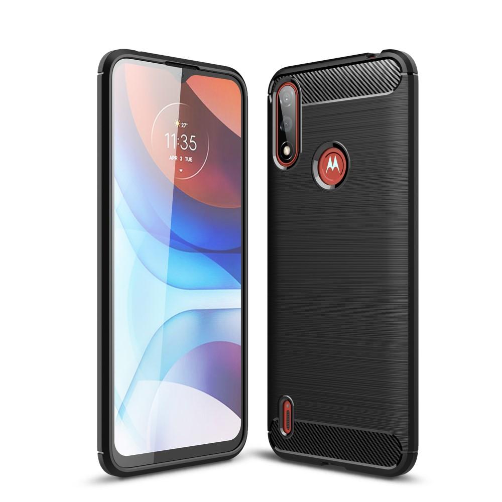 Силиконов Калъф Carbon за Motorola Moto E7 Power/Moto E7i Power, Черен