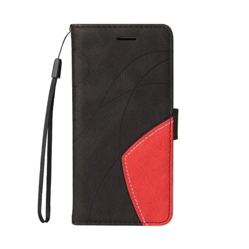 Калъф Тефтер Leather Bi-color за Motorola Moto E7 Power/Moto E7i Power, Черен