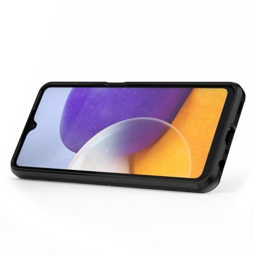 Удароустойчив Калъф с Поставка за Samsung Galaxy A22 4G, Черен