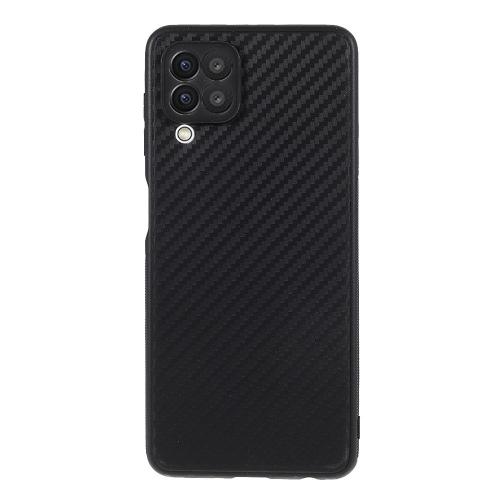 Силиконов калъф Carbon за Samsung Galaxy A22 4G, Черен