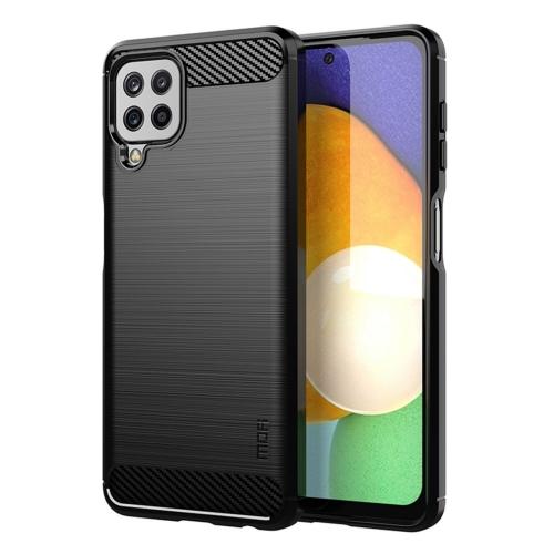 Силиконов Калъф MOFI Carbon Fiber за Samsung Galaxy A22 4G, Черен