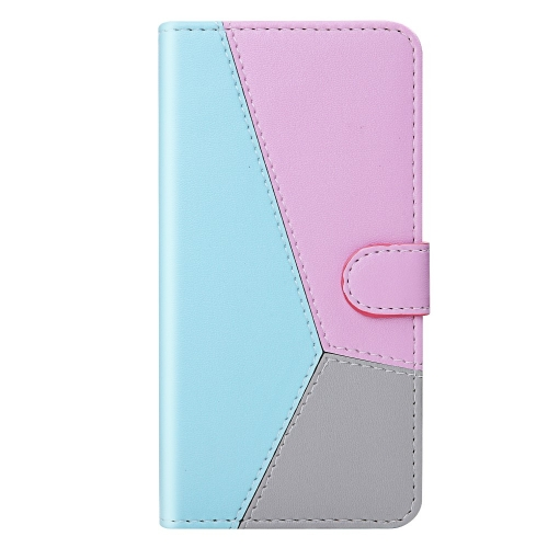 Калъф Тефтер Wallet Tri-color за Samsung Galaxy A22 4G, Син, Лилав, Сив
