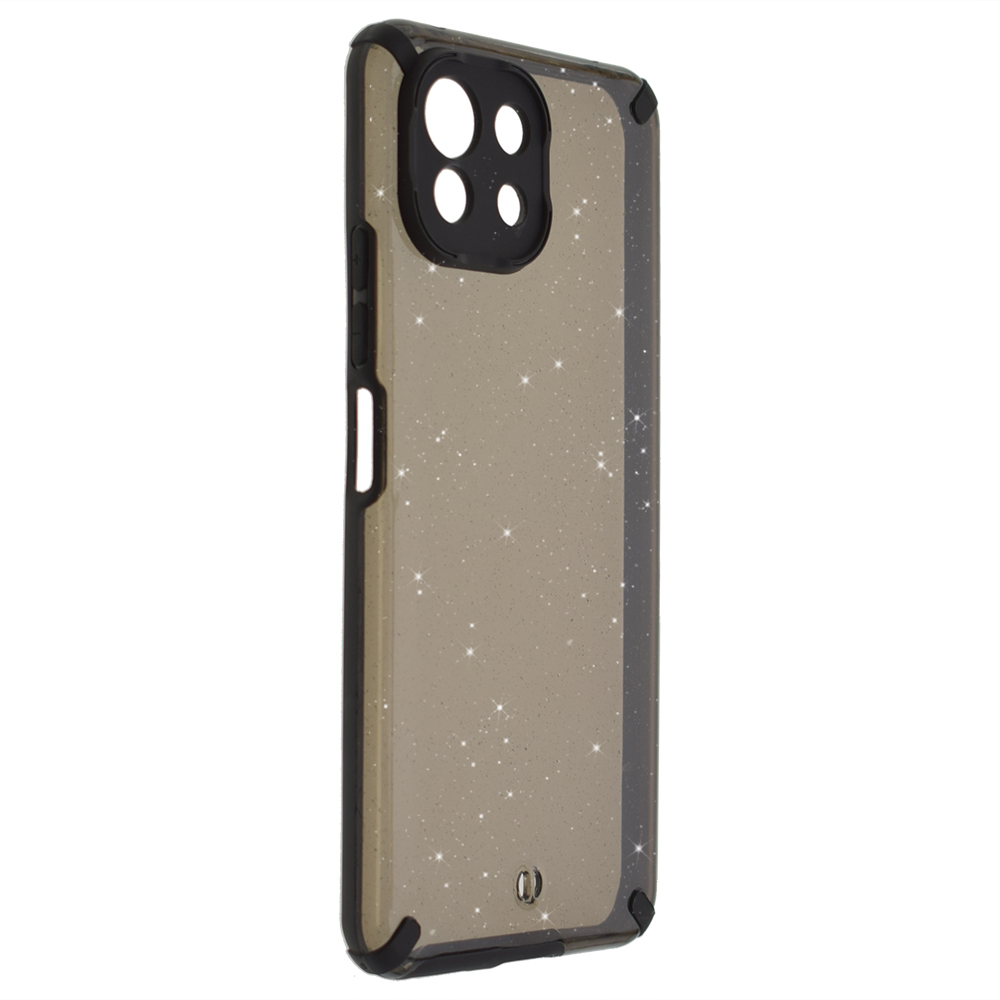 Удароустойчив калъф Armor Glitter за Xiaomi Mi 11 Lite 4G/5G, Черен