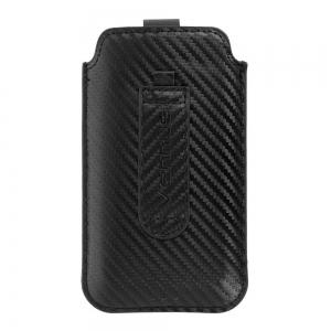 Универсален вертикален калъф, тип джоб Vennus Carbon, 171 х 92 мм, Черен