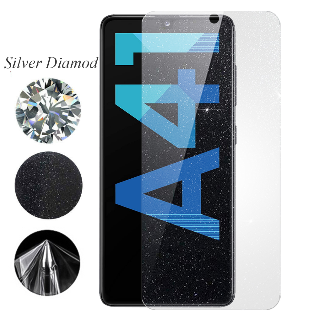 Хидрогел протектори SAMURAI с блясък Silver Diamond за Samsung Galaxy А41, Front Shell