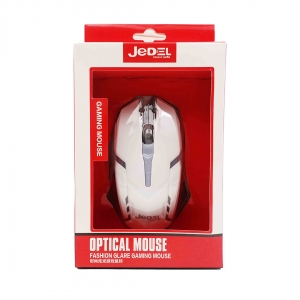 Оптична Мишка USB LED Jebel M66, Бял