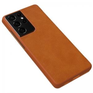 Калъф Тефтер Nillkin Qin за Samsung Galaxy S21 Ultra, Кафяв